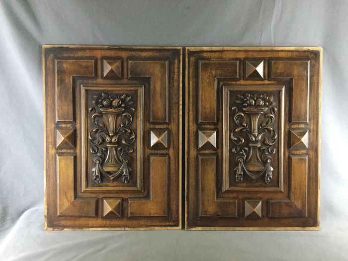 Pair of cabinet panel - Wood
