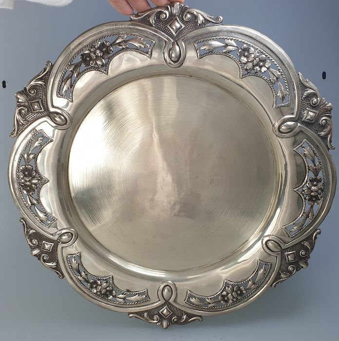 Salver - .833 silver - Portugal - Late 19th century