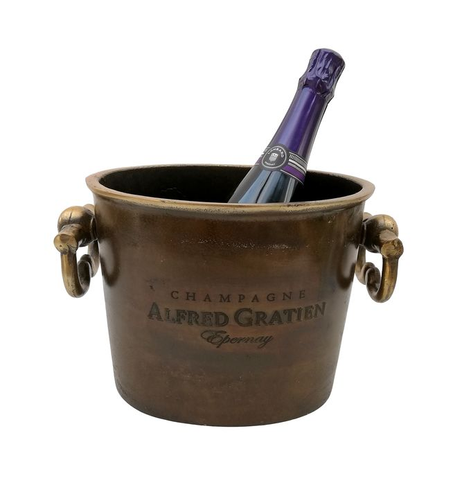 Champagne Alfred Gratien  - Wine Cooler/Champagne cooler/champagne ice bucket - Brass, Bronze