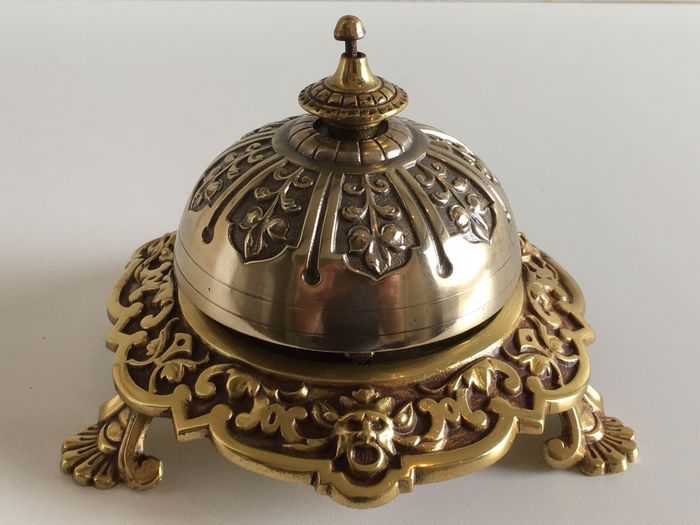 Hotel bell / Reception bell / Counter bell or Table bell - Bronze - 19th century
