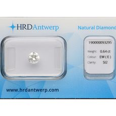 1 pcs Diamant - 0.64 ct - Brilliant - E - SI2 ***No Reserve Price***