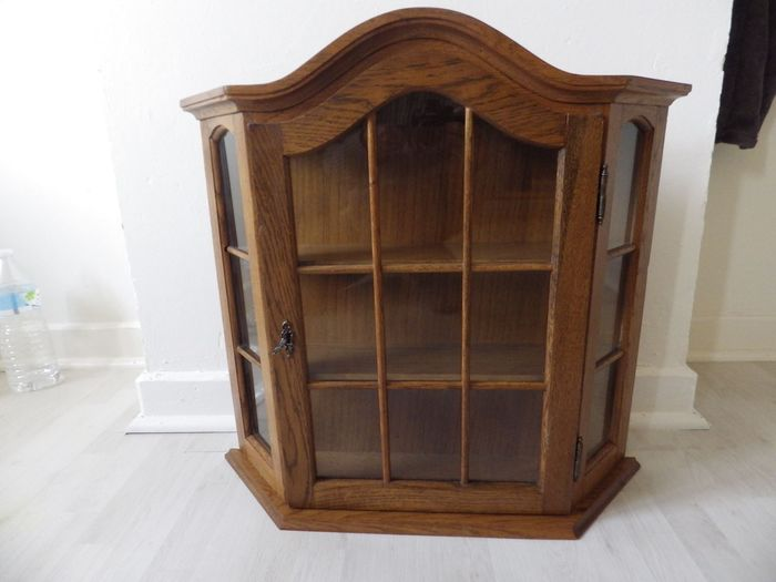 Small oak display case - Glass, Wood, Oak