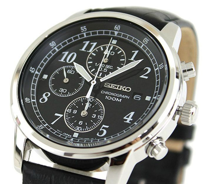 Seiko - Black  Chronograph Date 100M 7T92  - Men - 2018 - New