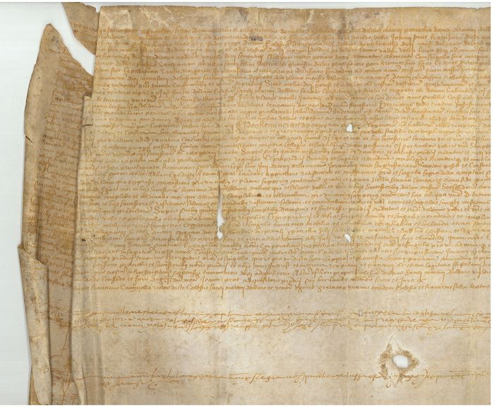 Manuscript; Notarial deed on a house sale, Spain - XVI century