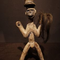 Doll - Wood, horse hair - Provenance Donald Taitt - Lobi - Burkina Faso