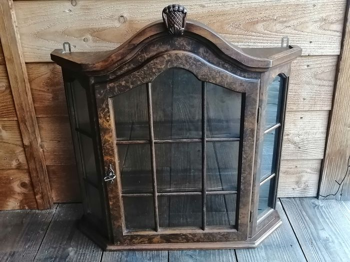 Beautiful carrot Nuts Showcase Cabinet - Wood Decorative Objects Brocante for sale