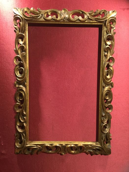 Museum frame - Baroque - Gilt, Wood - Early 20th century