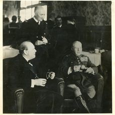 N.P.A. Rota/The Times/Daily Telegraph - Winston Churchill in Paris, with Gen. Gamelin and Adml. Darlan, 1939