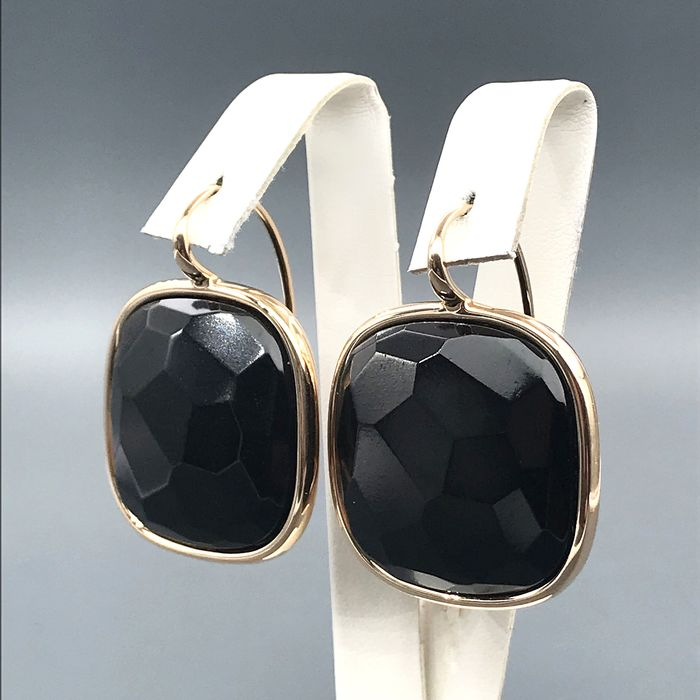 Pomellato - 18 kt. Yellow gold - Earrings Onyx