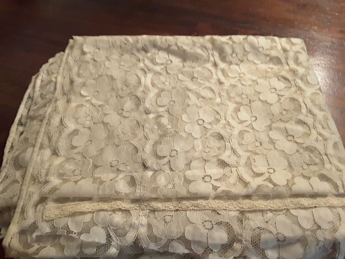 Valencienne lace (3) - tulle - Second half 20th century