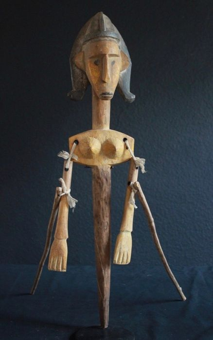 Bambara Bar Doll West Africa (1) - Wood - Africa