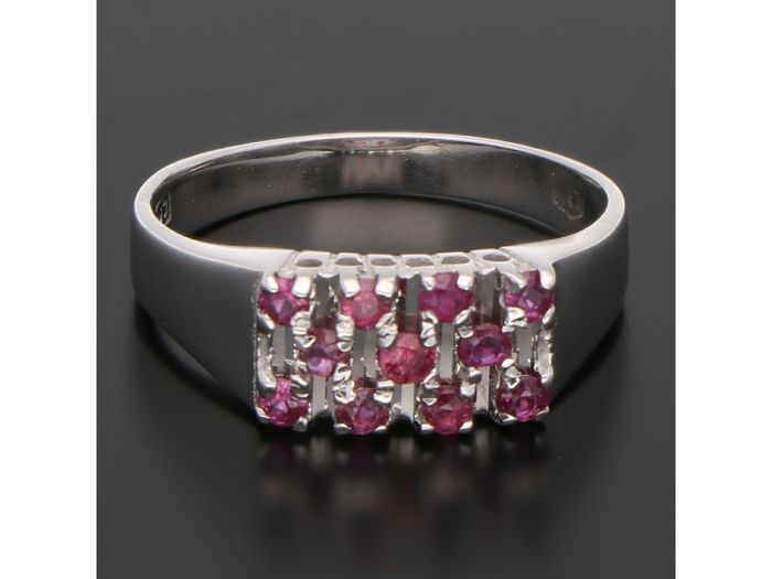 18 kt. White gold - Ring Ruby
