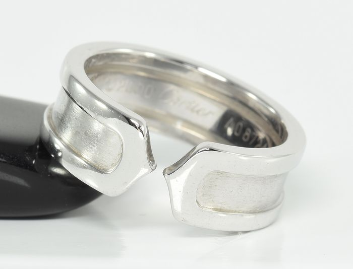 Cartier - 18 kt. White gold - Ring - 'C de Cartier'