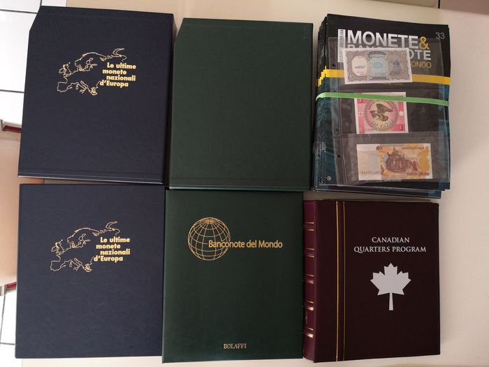 World - Collection various coins and banknotes in albums