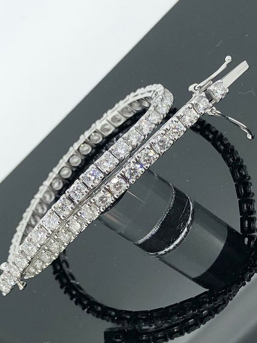 18 kt. White gold - Bracelet - 4.90 ct Diamond
