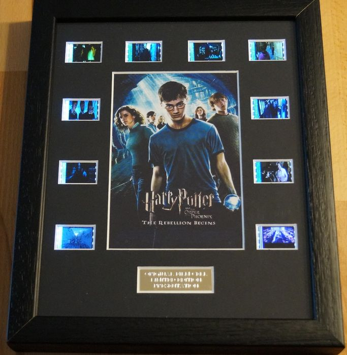 Harry Potter - Harry Potter and the Order of the Phoenix - 35mm Film cell Displays with COA Limited edition framed in Light Box