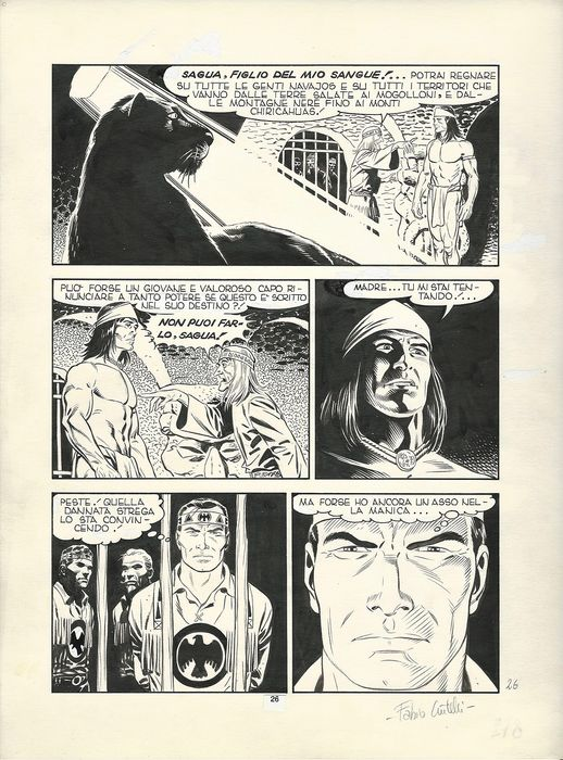 "Tex #349 - Fabio Civitelli - original page ""Abissi"" - Loose page - (1989)"