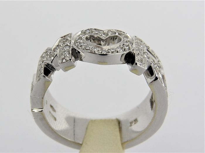 Pasquale Bruni - 18 kt. White gold - Ring - 0.70 ct Diamond
