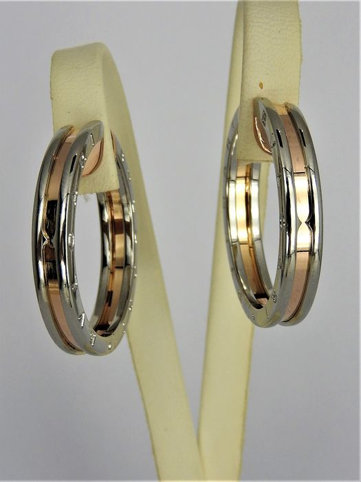 Bvlgari - 18 kt. Steel, Yellow gold - Earrings