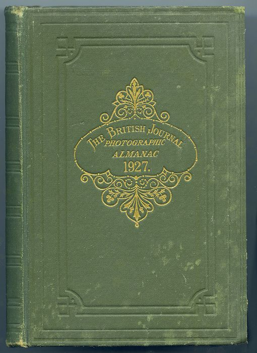 B.J.A. 1927 British Journal Almanac