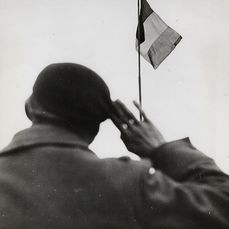 Ralph Morse (1917-2014)/Associated Press - 'Repatriated Frenchman Salutes His Flag', 1945