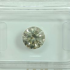 Diamant - 1.31 ct - Brilliant - light yellow green - SI2, No Reserve Price