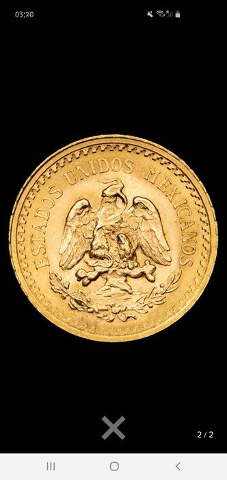Mexico - 2 1/2 Pesos 1945 - Gold
