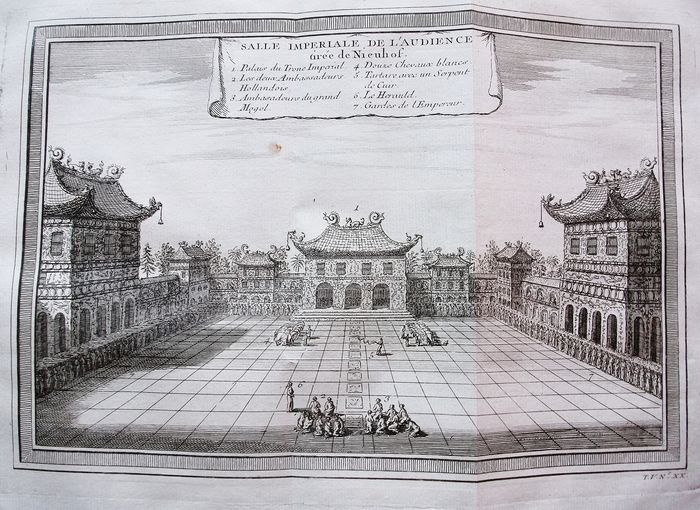 China, Pechino, Beijing; Bellin & Prevost - Salle Imperiale de l'Audience  - 1751-1760