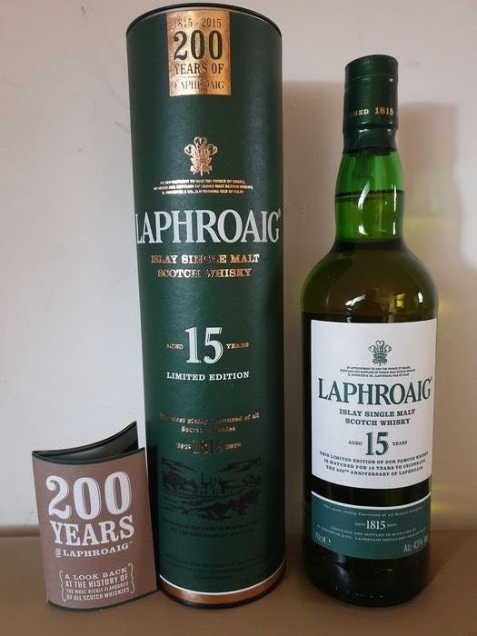 Laphroaig 15 years old 200th Anniversary Limited Edition - Original bottling - 0,7 litros