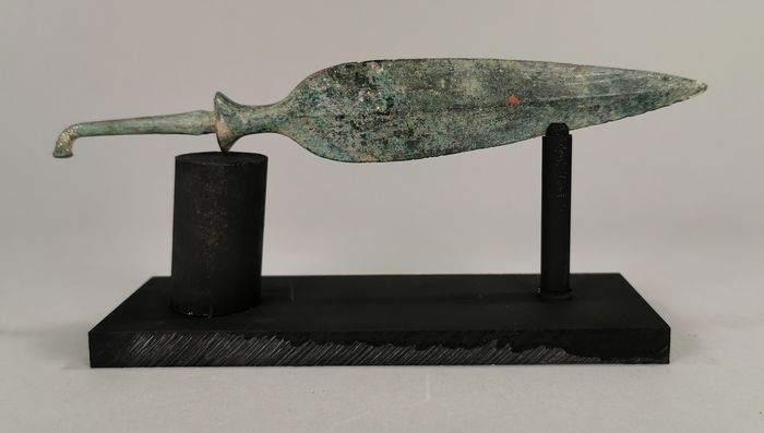 Ancient Greek Period / Cypriot Bronze Spera - 220mm on Custom Made Stand