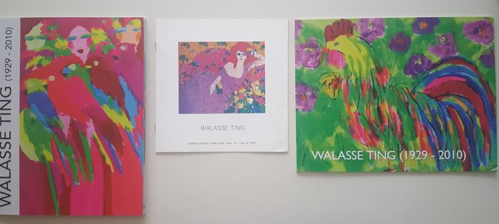 Walasse Ting - Lot with 3 books - 1979/2017