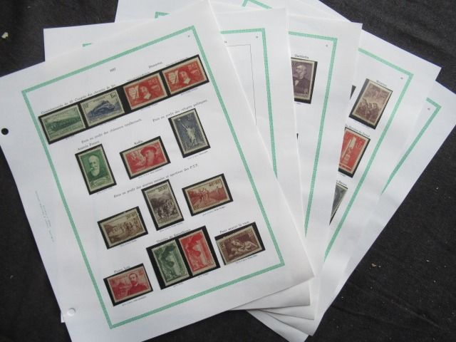 France 1937/1938 - Collection of stamps