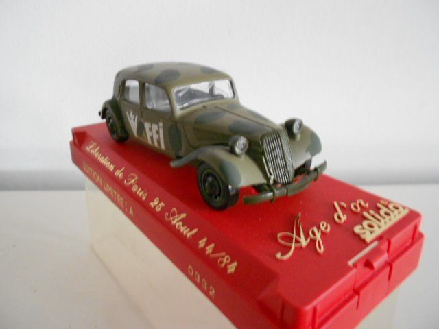 Solido - Age d'or - Edition limitee :A  0332 - Car Citroen Traction FFI  1944 /84 - 1980-1989 - France