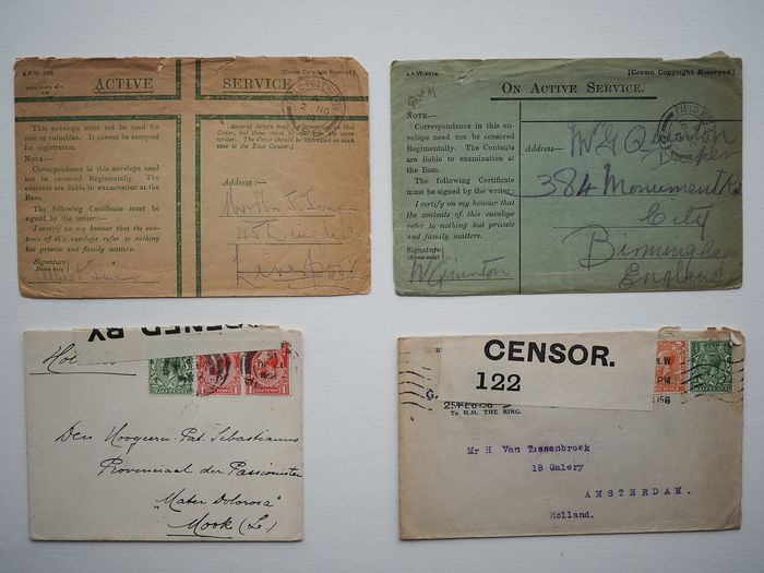 Great Britain - England 1914/1945 - Collection of field post from WW I and WW II