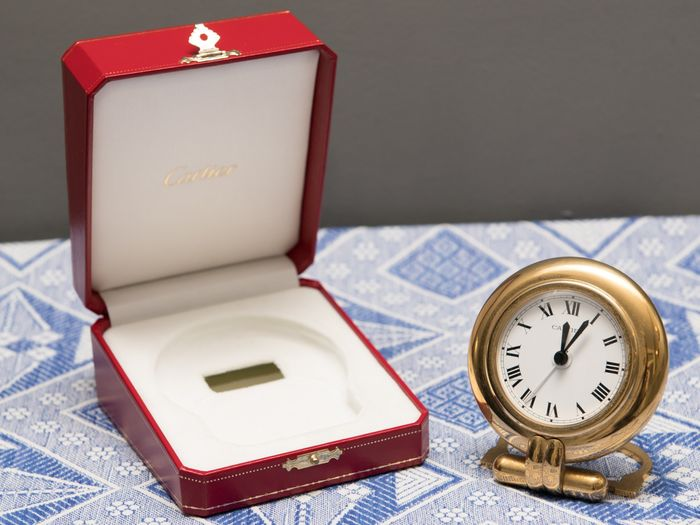 Alarm clock - Cartier - Gold plated - 20th century