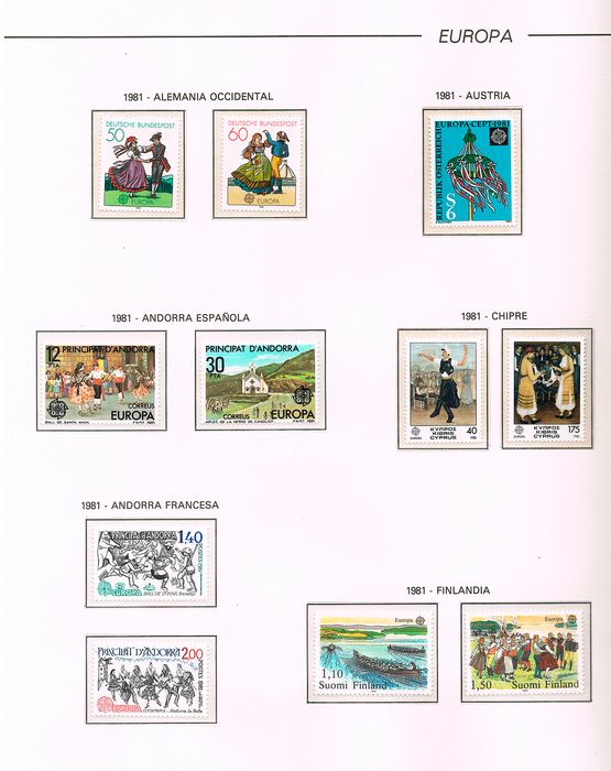Europe 1981/1985 - Theme: Europe. 1981/1985. Full Period. Mounted on album pages