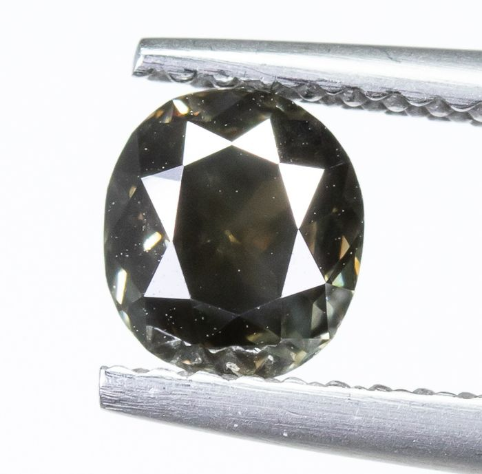 Diamond - 0.79 ct - Natural DARK Brown - I1  *NO RESERVE*