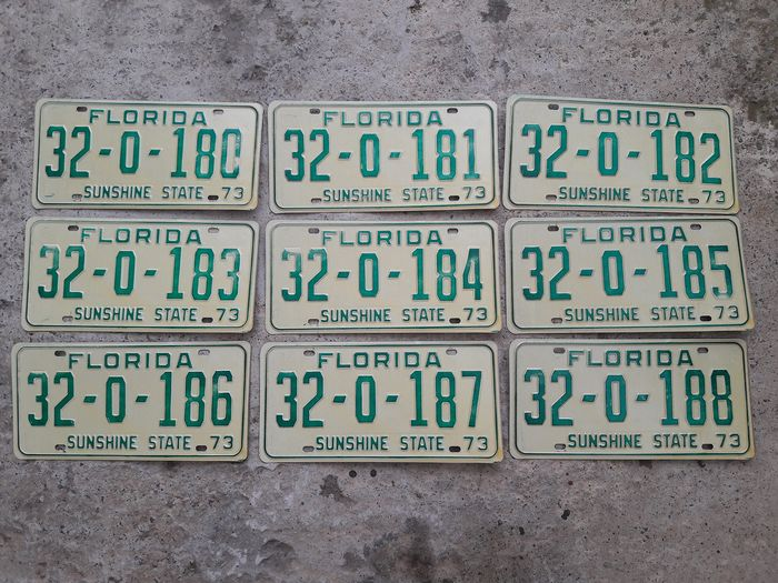 Number plate - usa - 1973-1973