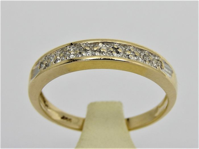 14 kt. Yellow gold - Ring - 0.05 ct Diamond