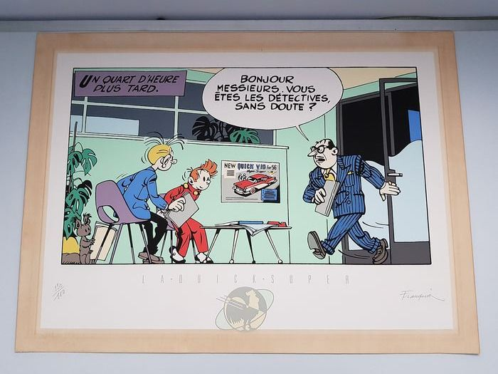 Spirou et Fantasio - Zeefdruk Archives Internationales - La Quick Super (1986)