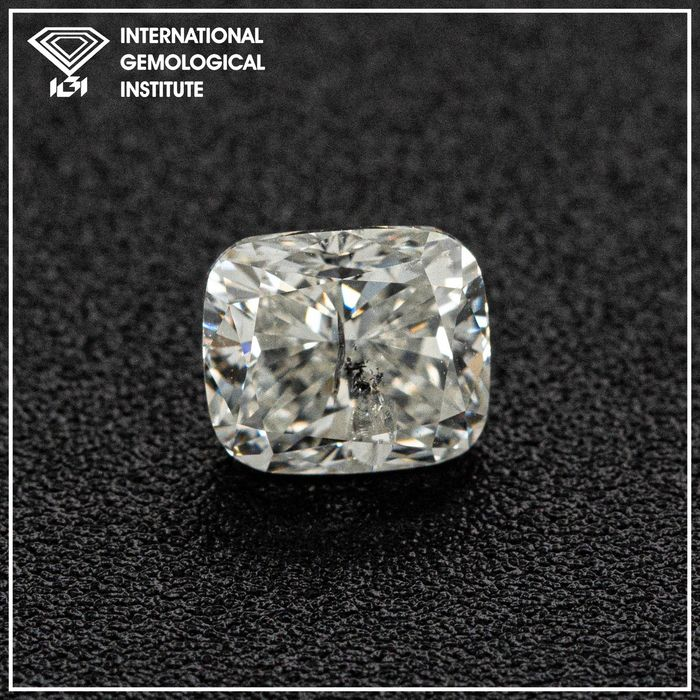 Diamond - 1.08 ct - Cushion - I - I1, IGI Antwerp - No Reserve Price