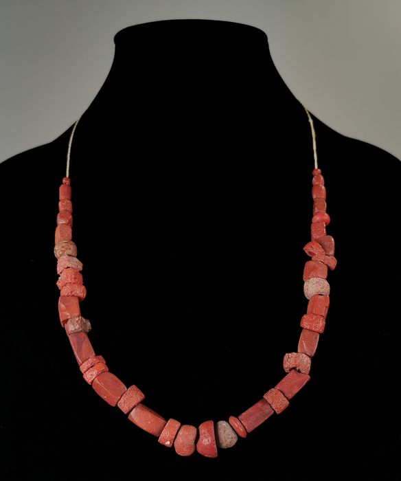 Medieval Viking Era Coral Beaded Necklace - Wearable