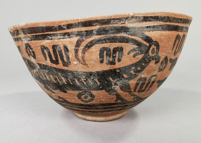 Ancient Indus Valley Terracotta Bowl with Animal Motif