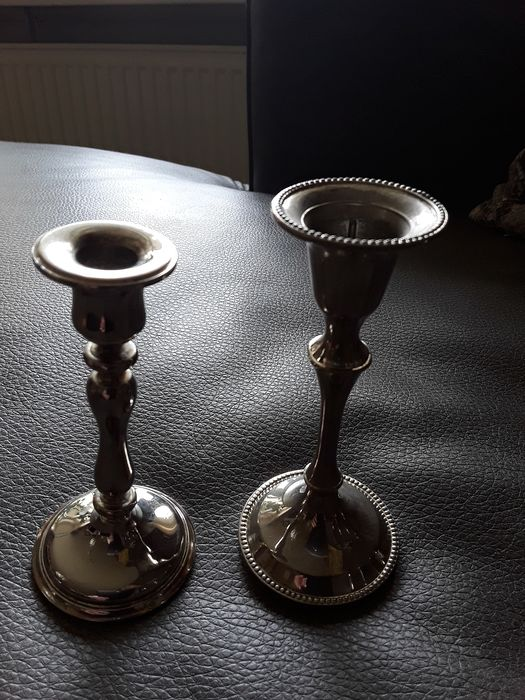 n.v.t  - Candlestick (4) - Art Deco - Silverplate