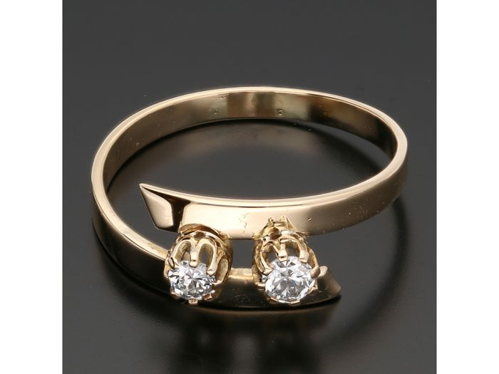 14 kt. Gold - Ring - 0.20 ct Diamond