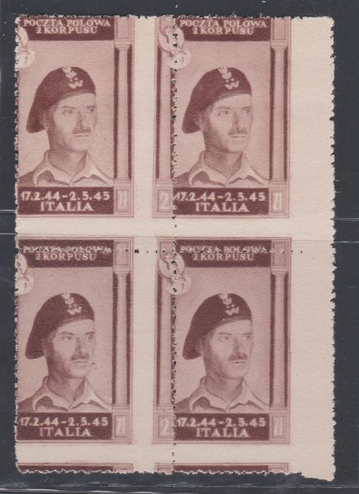 Poland - Occupation of Italy (1946) 1946 - 2 z. lilac brown variety - Sassone N. 17e