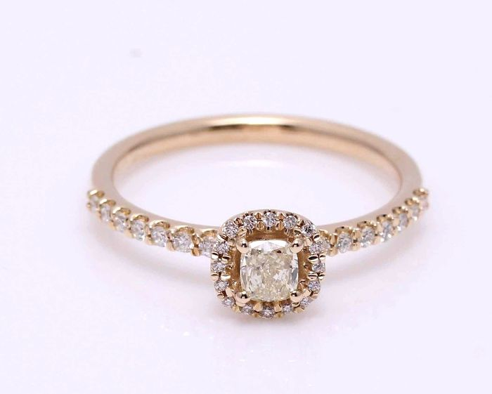 14 carats Or jaune - Bague - 0.55 ct Diamant - Diamant