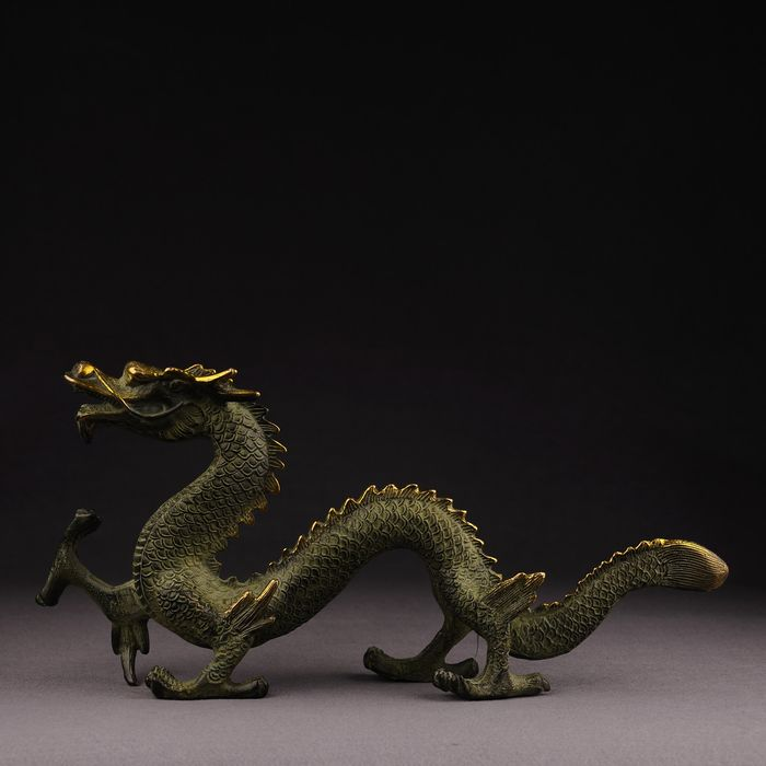 Dragon - Bronze - China - Late 20th century