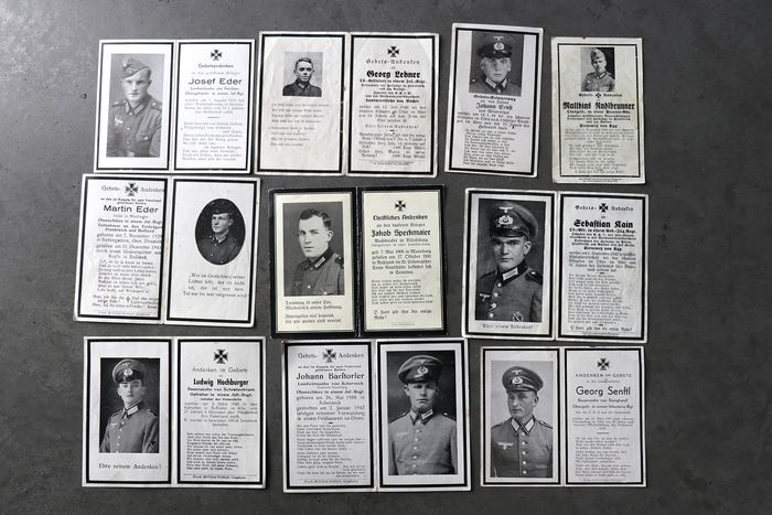 Germany - Army/Infantry - Lot original Wehrmacht death cards, decorations, Russia, 10 pcs lot A