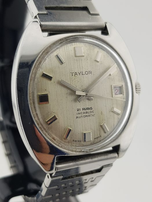 Taylor - Texture/ Linen Dial Swiss Automatic 21 Rubis - Men - 1960-1969